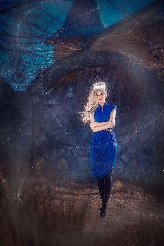 девушка, портрет, сказка, замок, girl. portreit, blue, castle, fairytale photo preview