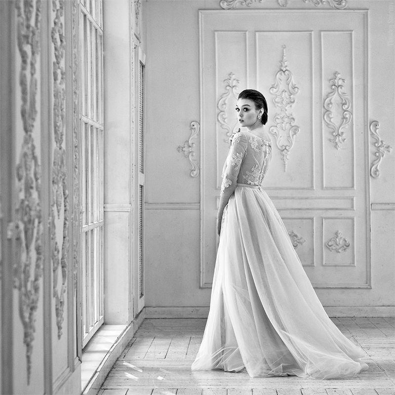 девушка, невеста, окно, зал, bride, милая, cute Olaphoto preview