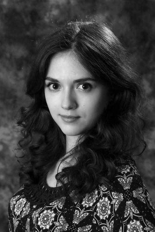 портрет, девушка,чёрно-белое, красота,олег_грачёв,oleg_grachev,canon,canonlens,beauty,portrait,b&w Аннаphoto preview