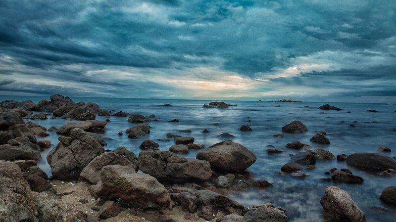 море закат камни вода небо Закатphoto preview