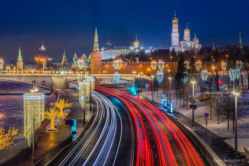 москва, кремль, утро, зима, moscow, kremlin, morning, winter Утренняя дорожнаяphoto preview