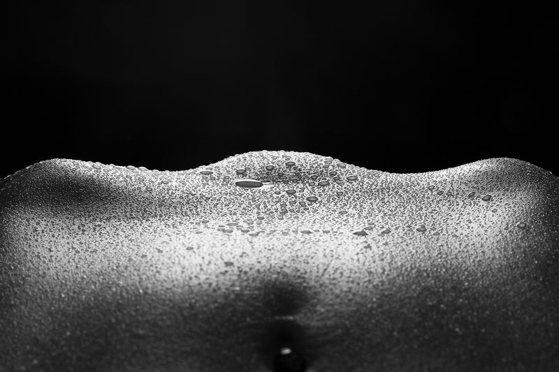 black and white, bodyscape, bodylines, nude, nsfw, butt, ass, butcheeks Wavesphoto preview