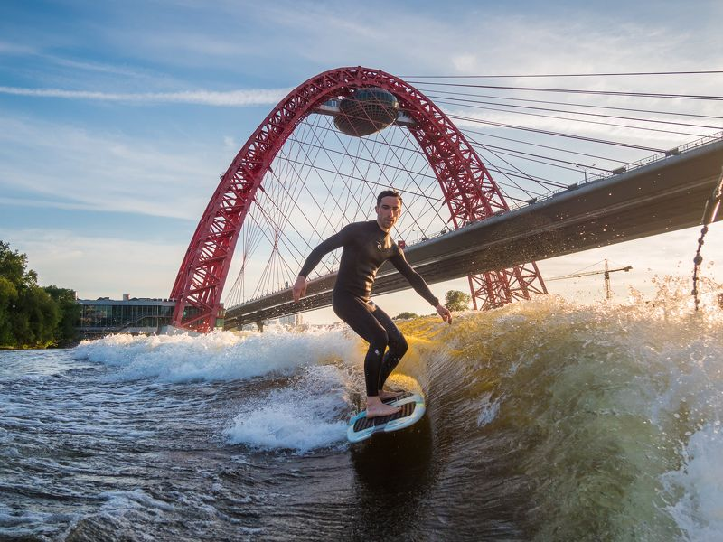 вейксёрф, wakesurf Wakesurfing in Moscowphoto preview