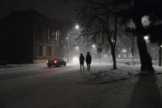 Вечерний снегопад 4