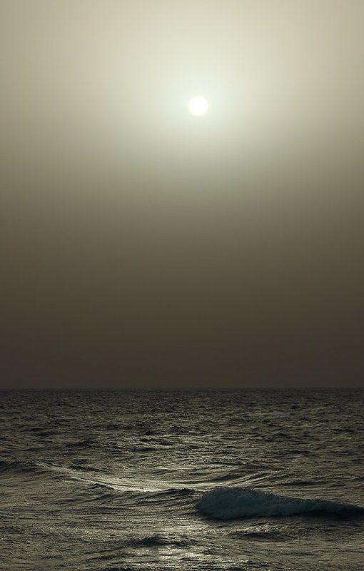 море, вечер, закат, буря, песок закат в песчаную бурюphoto preview