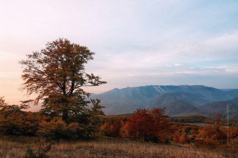 рассвет, осень, крымские горы осенний рассветphoto preview