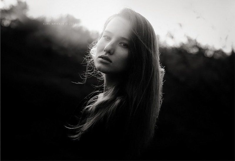 черно белое, портрет, взгляд, девушка * * *photo preview