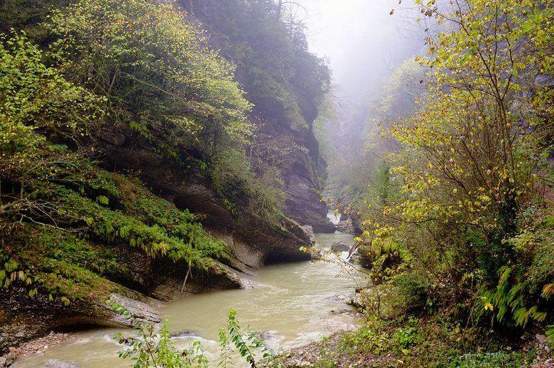 Гуамское ущелье после селевого потокаphoto preview