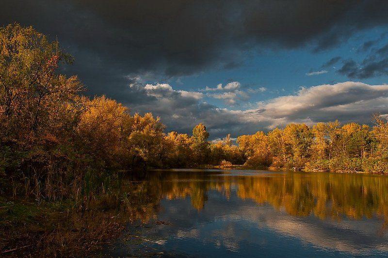 осень,киев,труханов остров,озеро, Контрасты осениphoto preview