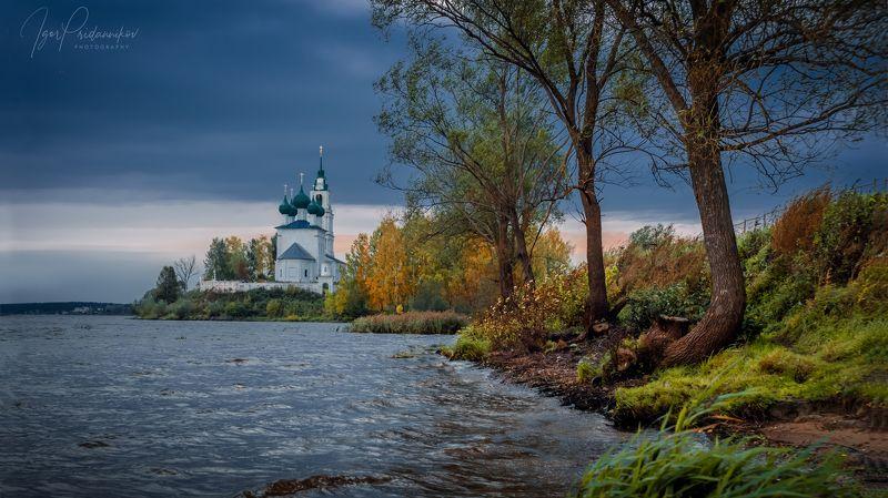 река, волга, вечер, диево городище, церковь, храм Волжский вечерphoto preview