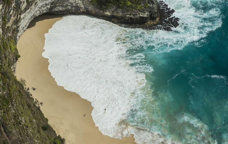 Бали, нуса пенида, остров, океан, волны Инь и яньphoto preview
