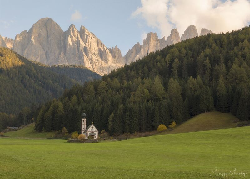 Church St.Johann in Ranui Dolomites Church St.Johann in Ranui. Dolomites.photo preview
