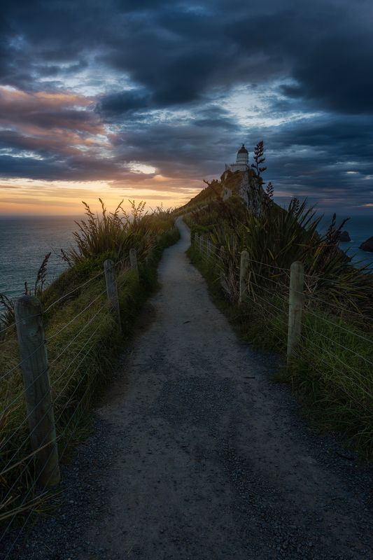 new zealand,sunset,lighthouse The Lighthousephoto preview