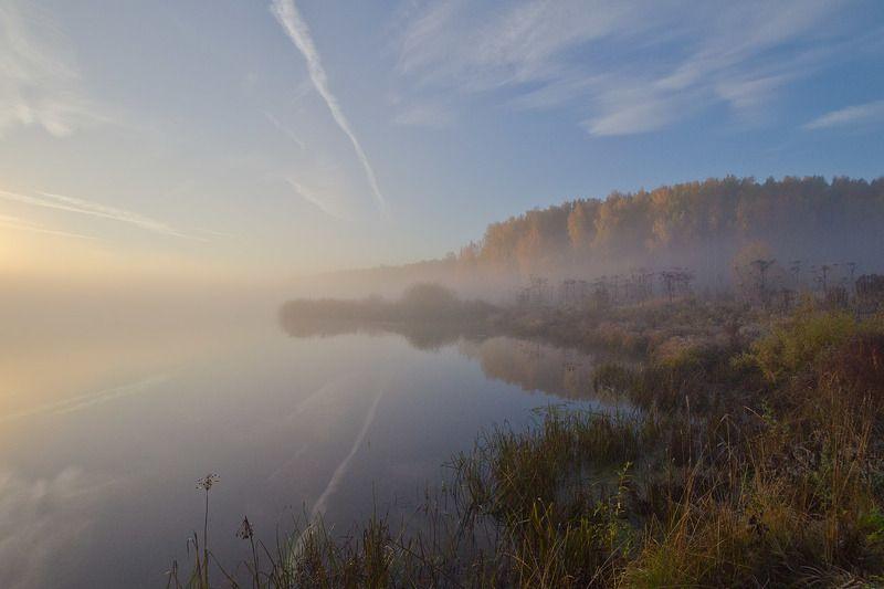 утро, туман, пейзаж, архангельское Атмосфера осеннего утраphoto preview