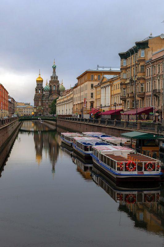 утро, река, канал, церковь, санкт-петербург, город, архитектура Утро на канале Грибоедоваphoto preview
