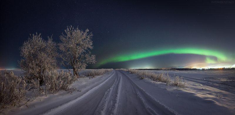пейзаж,россия,дорога,апатиты,кольский,сияние photo preview