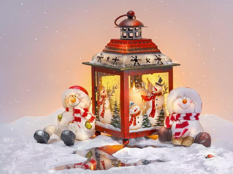 новогодняя открытка, новый год, снеговик, зима, праздник, снег, лёд Присели погреться...photo preview