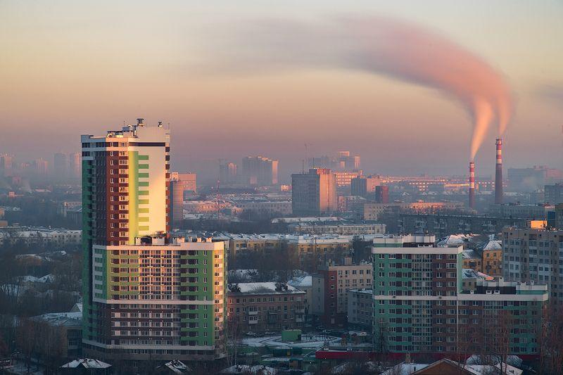 екатеринбург, город Туманное утро в Екатеринбургеphoto preview
