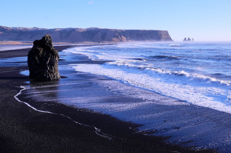 север, арктика, исландия, атлантика, north, arctic, iceland, atlantic, Черные пляжи Рейнисфьярыphoto preview