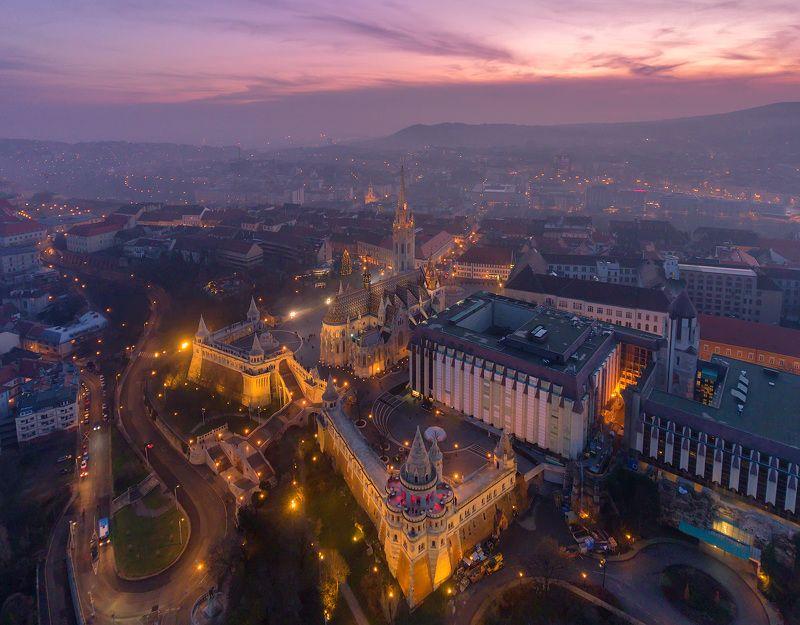 будапешт, венгрия, вudapest, hungary,  dji, phantom 4, Над Рыбацким бастионом. фото превью