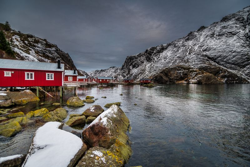 lofoten, winter Holiday housesphoto preview