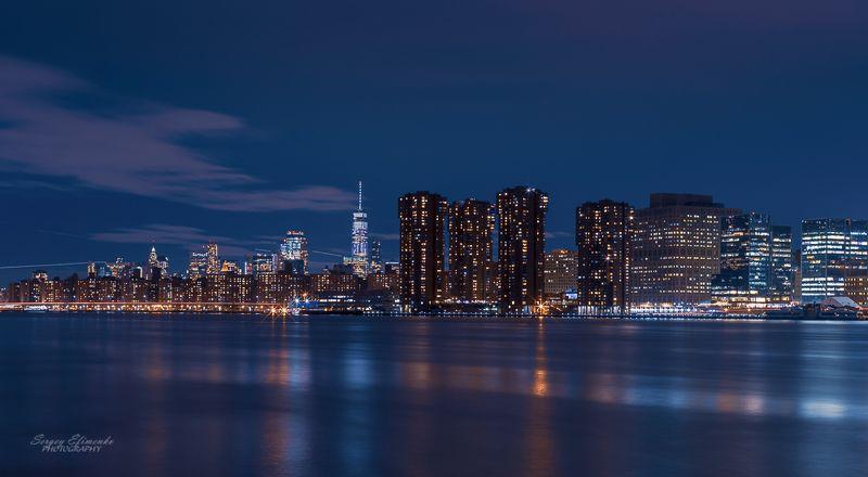 нью-йорк, город, ночь, длинная выдержка, Волшебство ночного Нью-Йоркаphoto preview