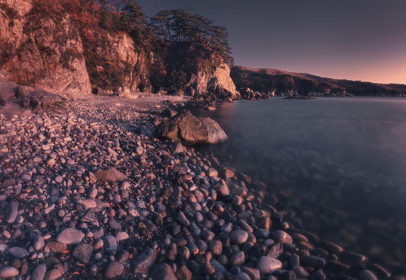 утро, осень, море, скалы, камни ***photo preview
