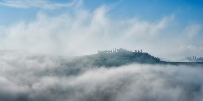 tuscany, italy, landscape, morning Misty morningphoto preview