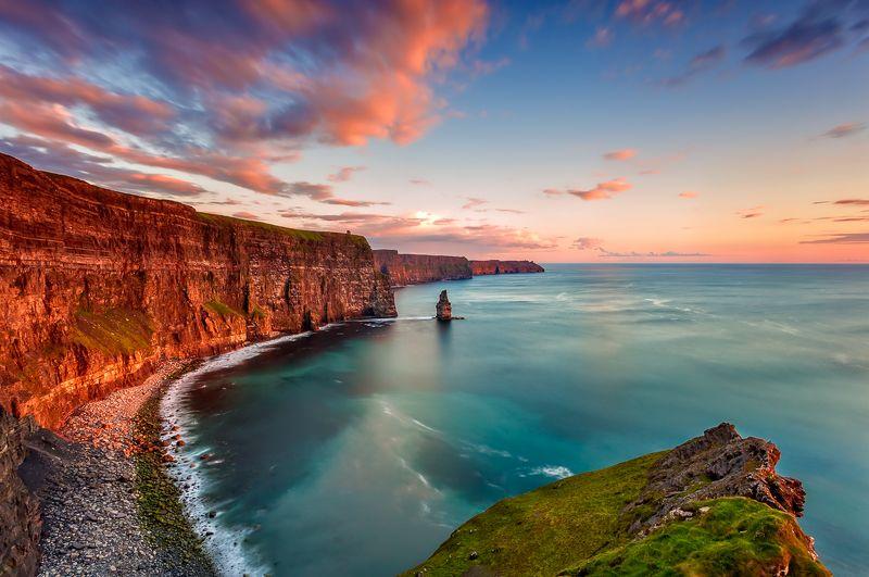 longexposure, ireland, cliffs of moher, sunrise, sunset, landscapes Cliffs of Moherphoto preview