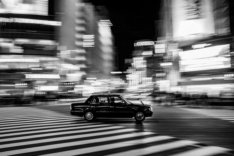 город, япония, токио, город, авто, такси, чб Токийские зарисовкиphoto preview