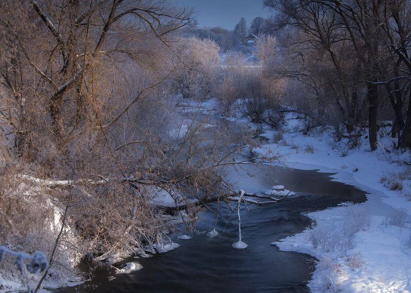 река,зима,солнце,мороз ***photo preview