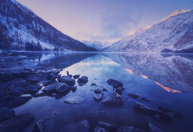 Морозное утро на Среднем Мультинском озереphoto preview