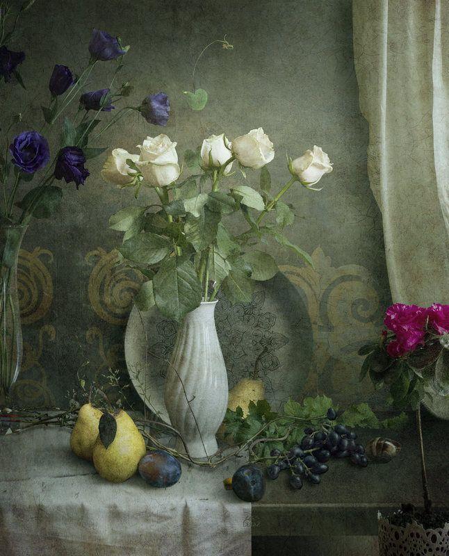 розы, сливы, груши, виноград,sarki С грушами.photo preview