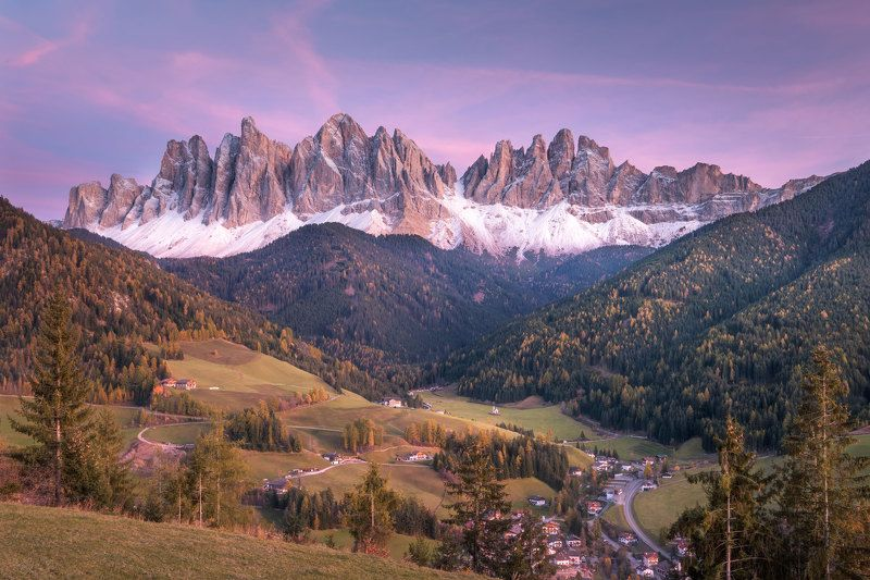 Dolomites, Santa Maddalena Twilight at Santa Maddalenaphoto preview