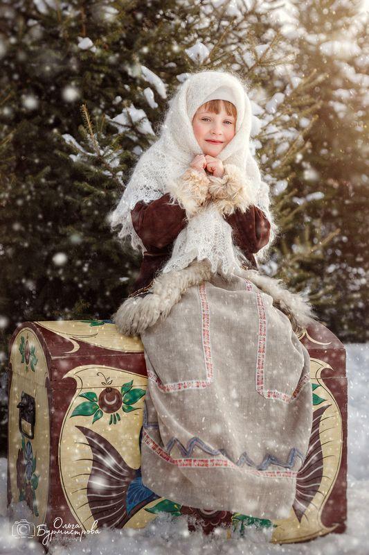 фото в образе, тематическое фото, русский стиль, русская сказка Морозкоphoto preview