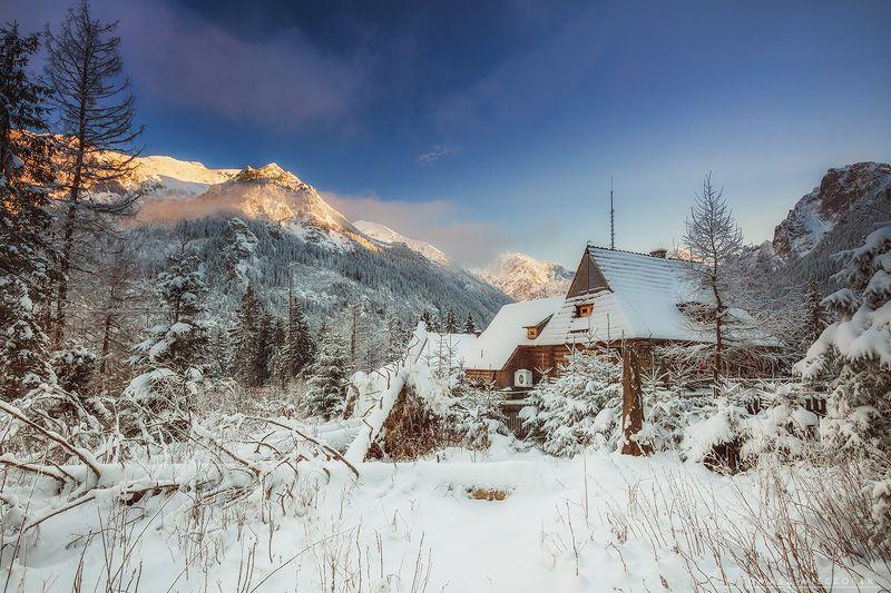 poland, polish, morskie, lake, mountains, sunset, sunrise, light, beautiful, amore, amazing, awesome, adventure, landscape Frosty sunset фото превью