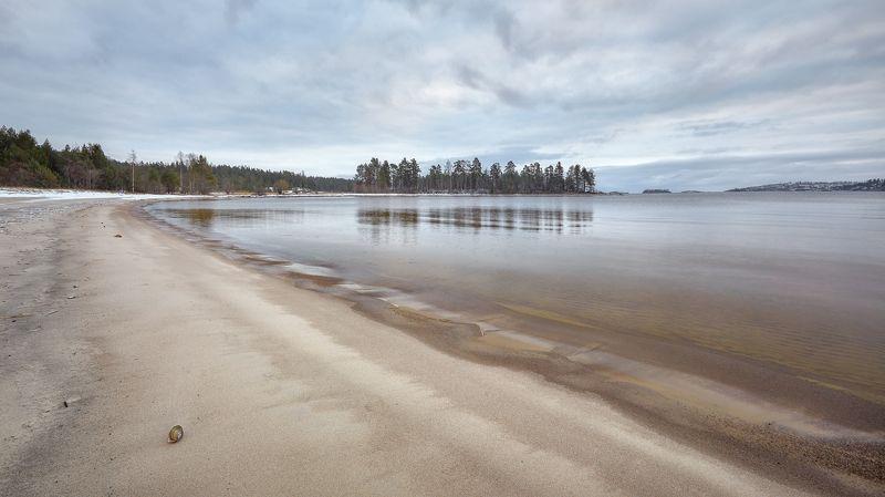 ладога, пляж, ракушка Ладога, начало зимыphoto preview