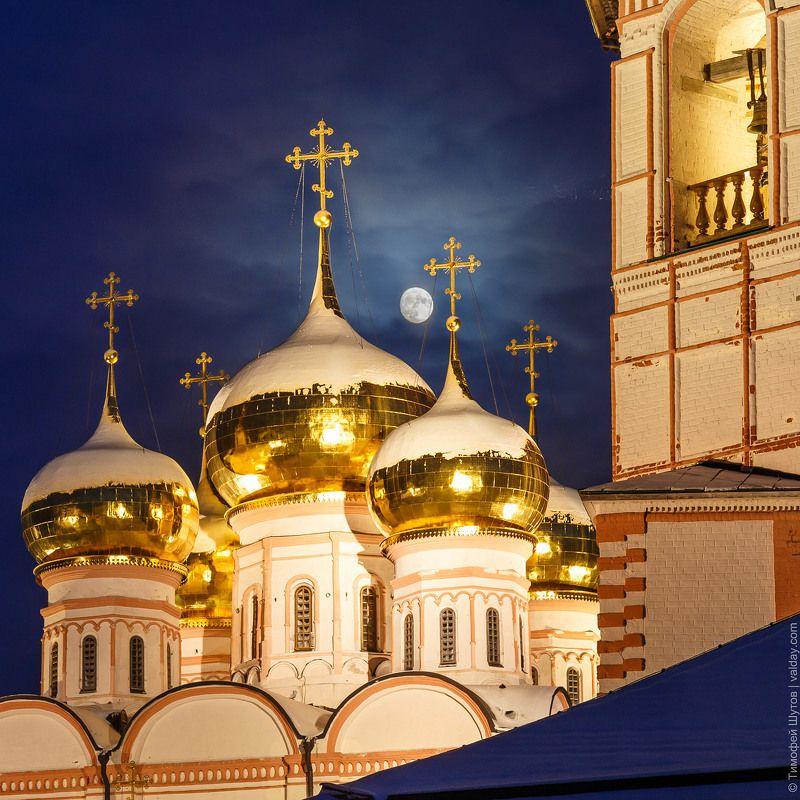 иверский монастырь, валдай Лунная ночь в обителиphoto preview