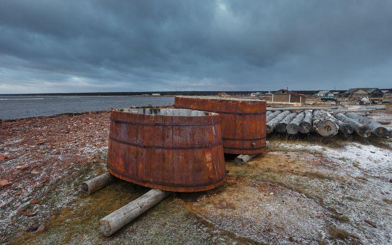 Бочки. Деревня Кашкаранцы на Белом мореphoto preview