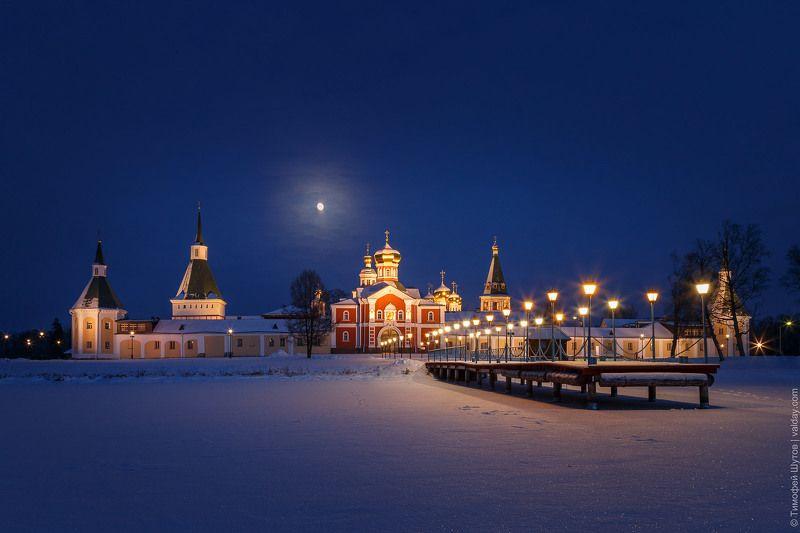 иверский монастырь, валдай Под лунойphoto preview