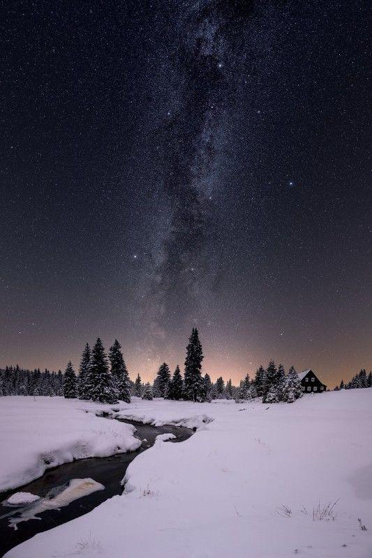 winter, snow, czech, chzechia, frozen, milkyway Winter fairy tale..photo preview