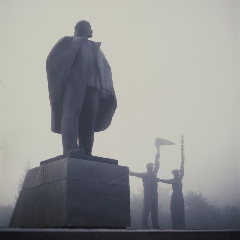 novosibirsk, statue, fog, lenin, russia, ussr Lenin Fogphoto preview