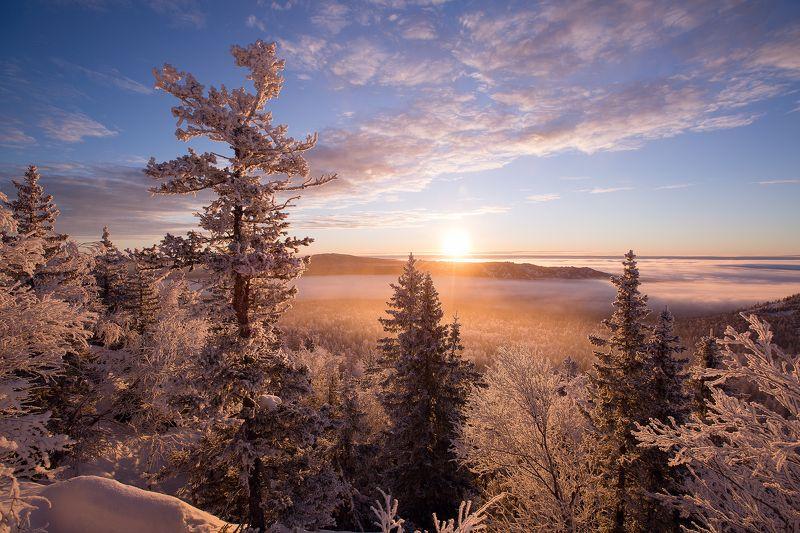 Таганай, Урал, восход, утро Туманное утроphoto preview