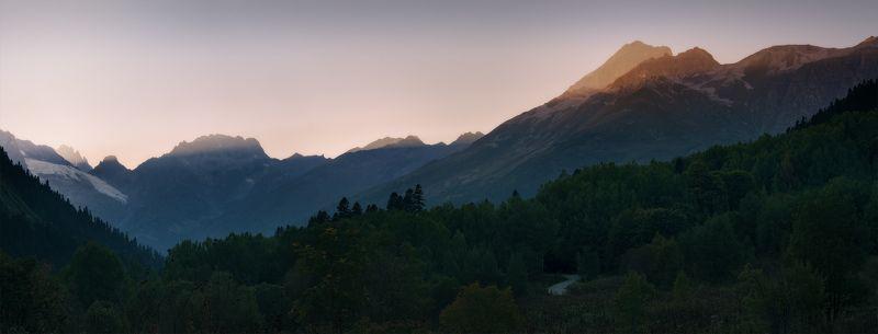 домбай, россия Про свет в горахphoto preview