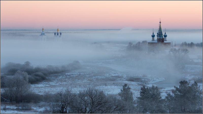 россия, ивановская обл, дунилово Пеленой густой туман ложилсяphoto preview
