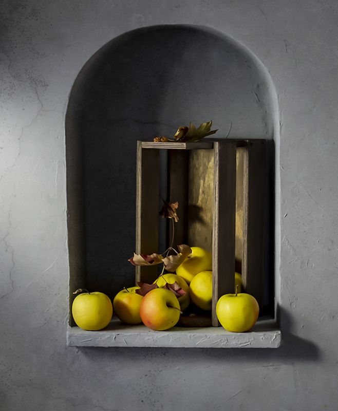 натюрморт, фрукты, still life Про яблокиphoto preview