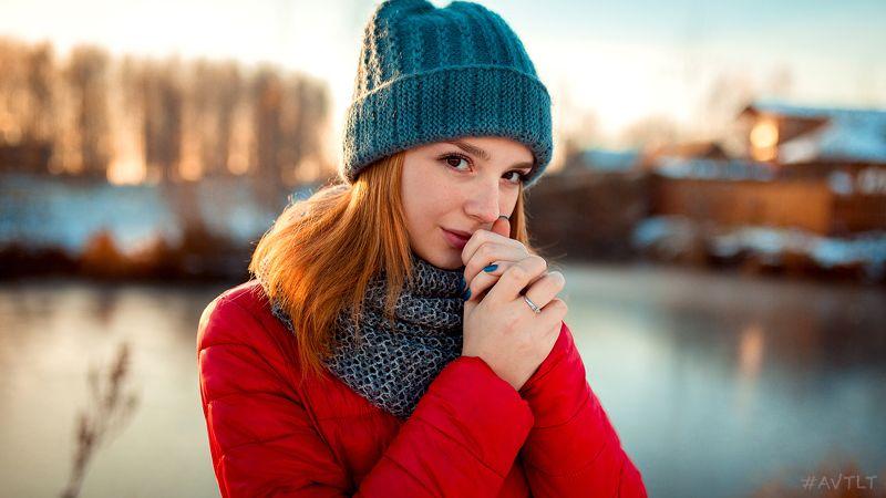 портрет, зимнее фото, зимний портрет , рыжая Иринаphoto preview