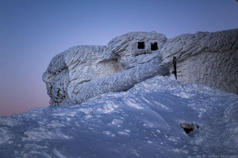зима, Карпати, Карпаты, сумерки, Черногора, ПИЧ Замерзший слонphoto preview