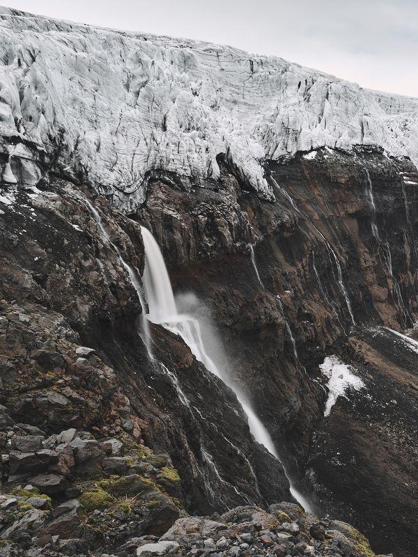 waterfall, iceland, glacier, outdoors, landscape, mountain, travel Mýrdalsjökull Glacierphoto preview