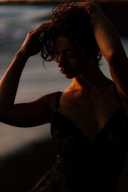 мягкий свет, девушка, океан Катяphoto preview